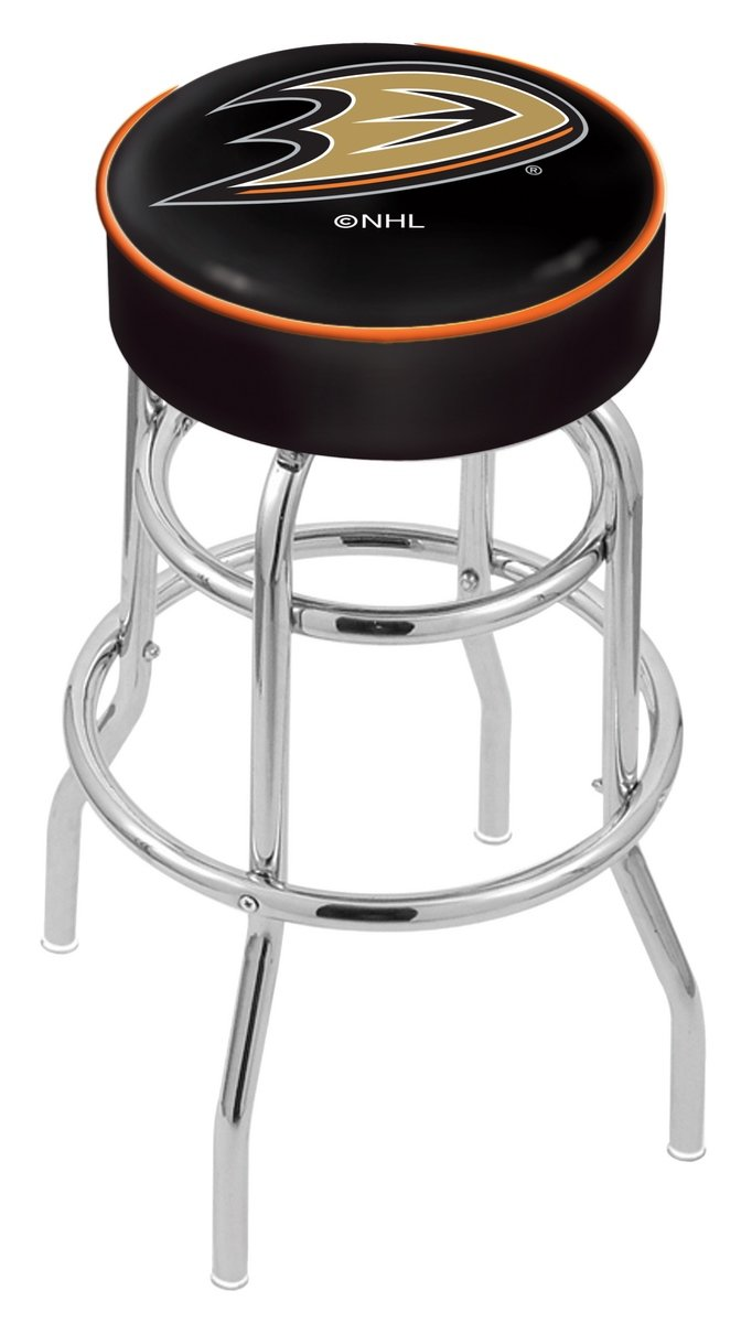 Holland Bar Stool Co. NHL Officially Licensed L7C1 Anaheim Ducks 25'' Swivel Counter Stool