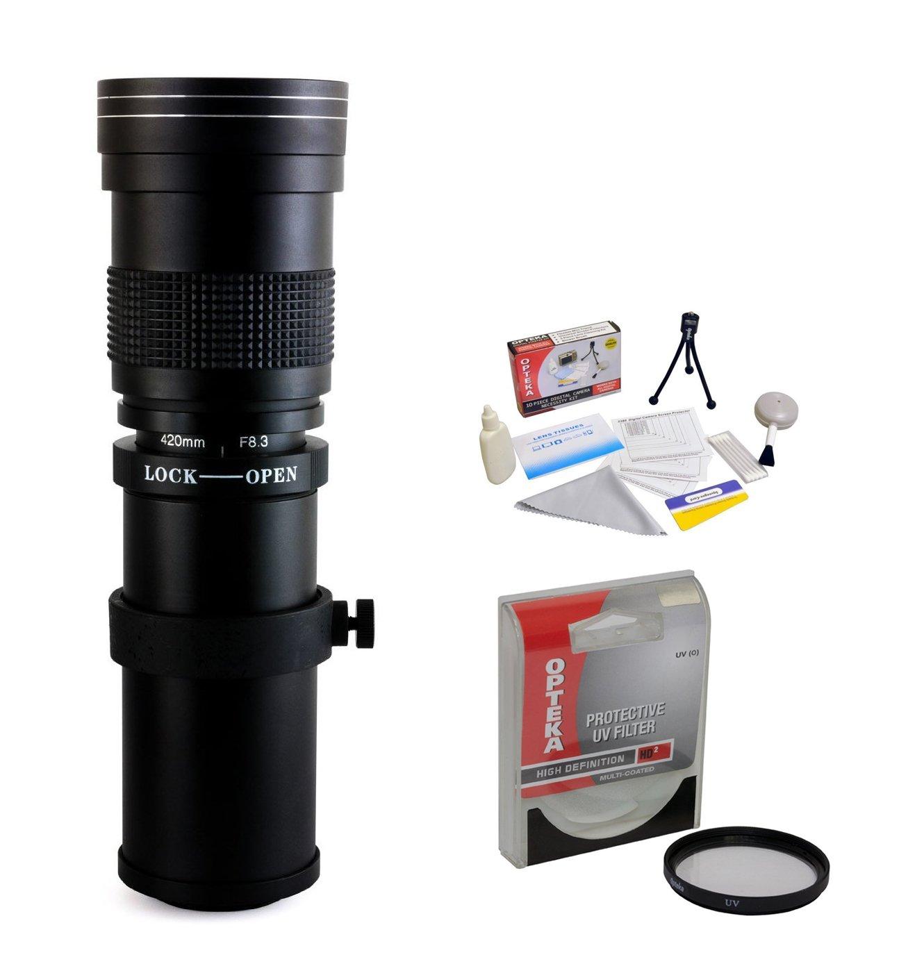 Opteka 420 – 800 mm f / 8.3 HD望遠ズームレンズUVフィルタ付きCanon eos-m m100、m10、m5、m6 m3コンパクトデジタルミラーレスカメラ   B00OJD5H16