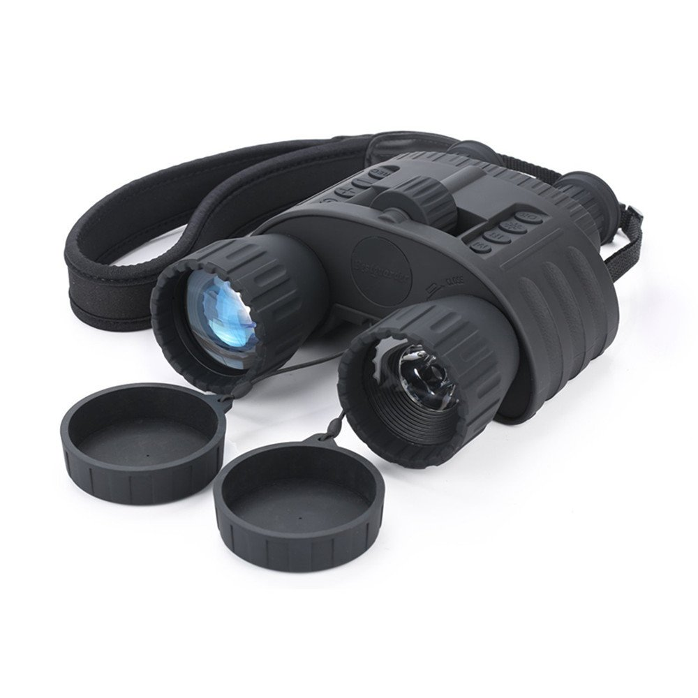 Infrared NightVision Binoculars QIYAT 4x50 HD Digital Hunting IR Telescope with 1.5 inch TFT LCD Display, 980ft/300M viewing Range, Waterproof, 5MP HD Photo Camera & 720p Video Recorder