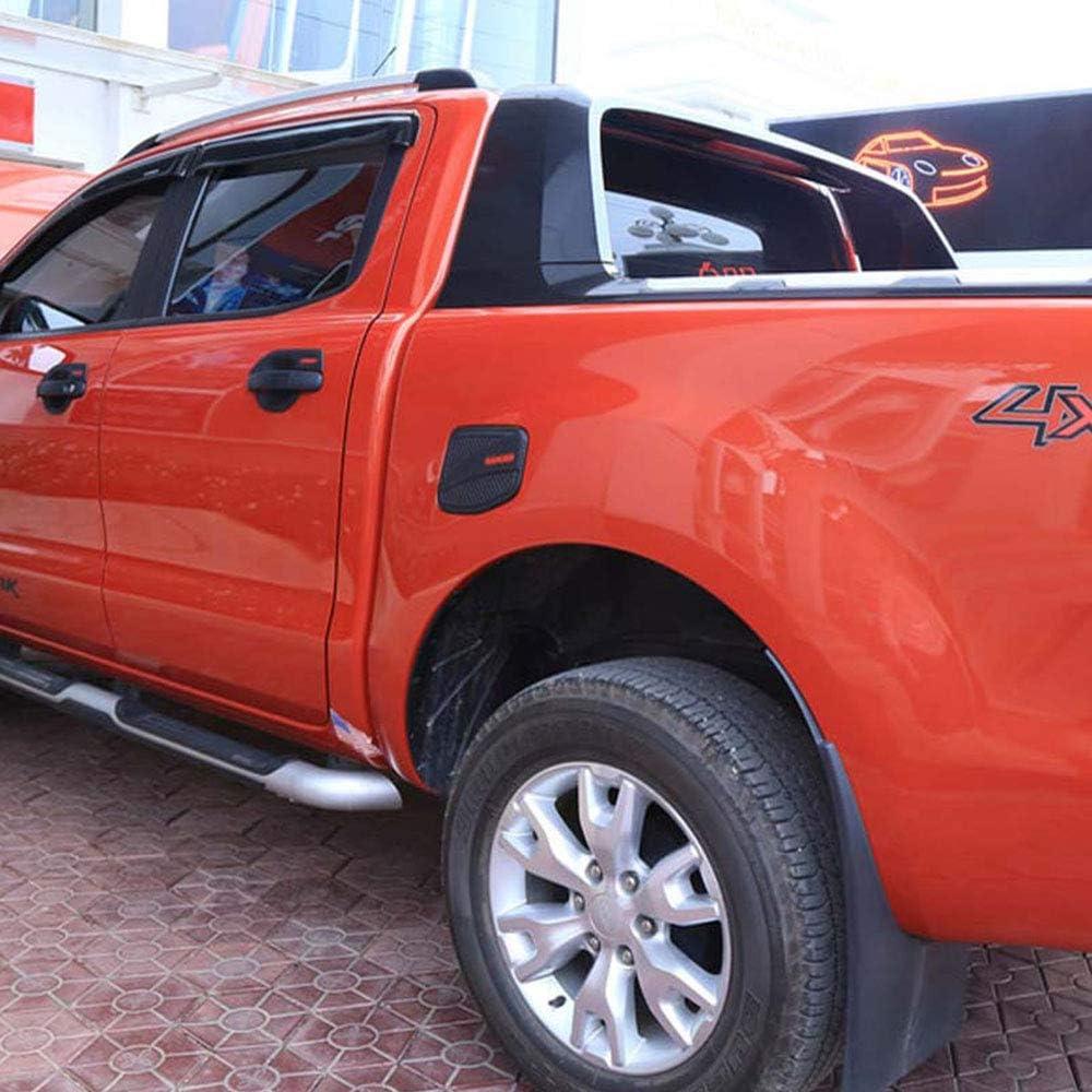 QQKLP pour Ford Ranger T6 T7 T8 2012-2019 Couverture ext/érieure du r/éservoir de Carburant Noir Mat ABS gaz en Plastique Couverture 4X4 Voiture Accessoires Accessoires Auto,Noir