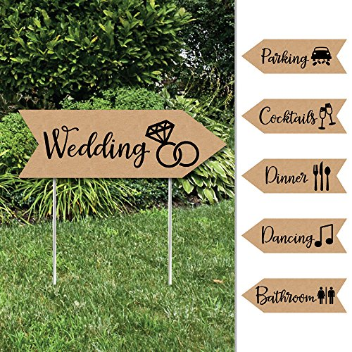 Rustic Kraft - Arrow Wedding and Reception Directional Signs