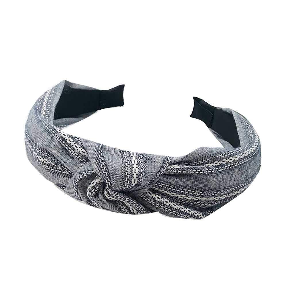 Bobury Mujeres Bowknot Hoop Cabello Diadema Suave Hairband Tocado ...