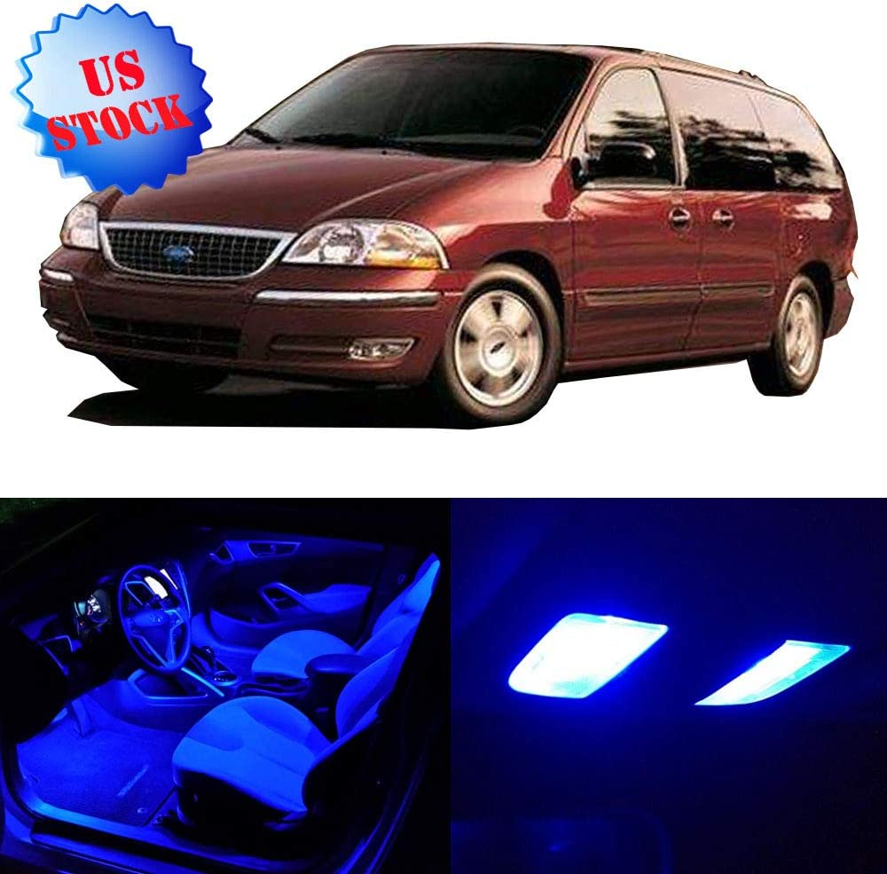 amazon com cciyu 9 pcs blue led package kit led interior lights accessories replacement parts for 2001 2002 2003 for ford windstar automotive cciyu 9 pcs blue led package kit led interior lights accessories replacement parts for 2001 2002 2003 for ford windstar