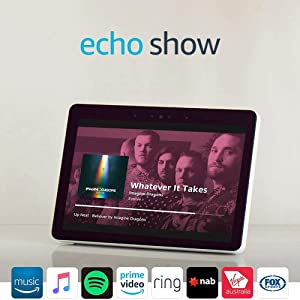 "Echo Show (2nd gen) - Premium sound and a vibrant 10"" HD screen – Sandstone Fabric"