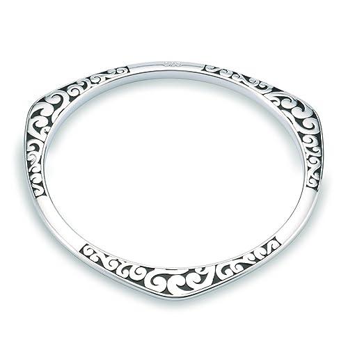 prezzo di strada saldi sconto di vendita caldo NYKKOLA - Bracciale rigido in argento 925, stile classico