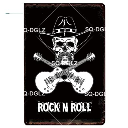 ShAwng 2 Piezas Rock n Roll Metal Sign Bar Decoración de ...