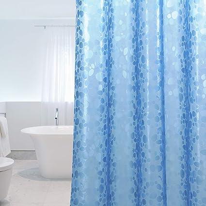 Tenda bianca per doccia Modello 3D in pietra Tenda impermeabile per vasca antibatterico 183x183cm 100/% EVA incl 0,2mm WELTRXE Tenda da doccia Anti-muffa 12 anelli per tende da doccia