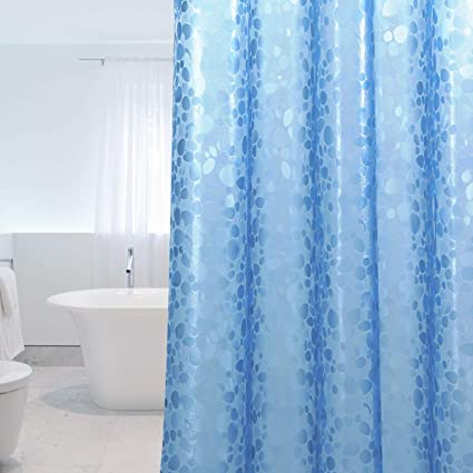 WELTRXE Shower Curtain Liner Anti Bacterial With Magnets Mildew Resistant Curtains Water Repellent