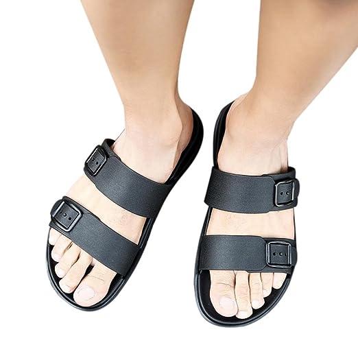 50d8c6c5ac6a Amazon.com  Unisex Flip Flops Flat Sandals Hot Sale Summer Casual ...