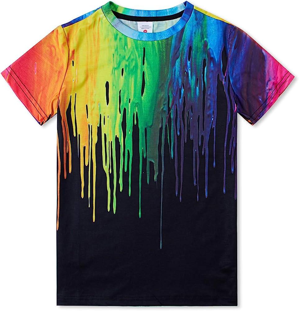 Boys/' Girls 3D Printed T-Shirt Kids Teenagers Short Sleeve Tee Shirts 6-16 Years