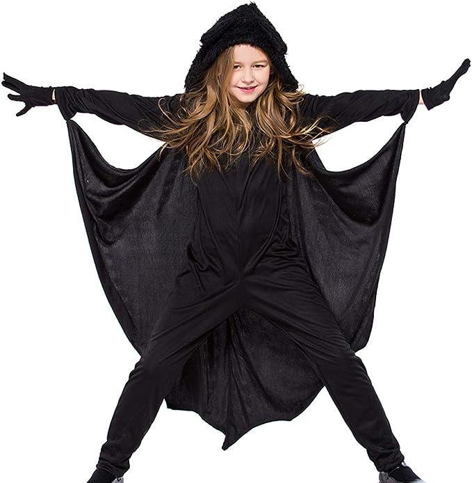 Odziezet Vampirina Disfraz Niño Niña Alas de murciélago Negro ...