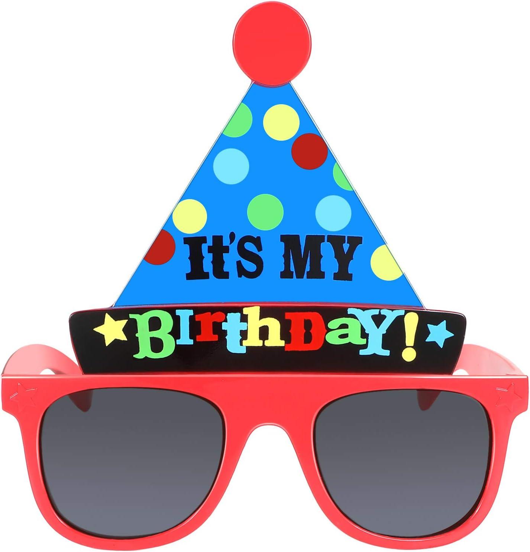 Skylety Happy Birthday Glasses Its My Birthday Funny Hat Glasses Birthday Party Sunglasses Novelty Party Hat Glasses Self Photo Props for Kids Birthday Party Favor