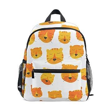 FANTAZIO Mochilas Niños Sweet Tigers Bolsa Escolar Libreta Mochila