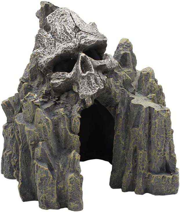 EHC Skull Mountain Aquarium Ornament Fish Tank Decorations
