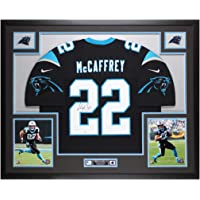 $895 » Christian McCaffrey Autographed Black Carolina Panthers Jersey - Beautifully Matted and Framed - Hand Signed By McCaffrey and Certified…