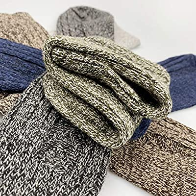 Womens Winter Warm Thick Socks, 5 Pairs Wool Soft Knit Fuzzy Casual Heated Socks, Thermal Socks at Women's Clothing store