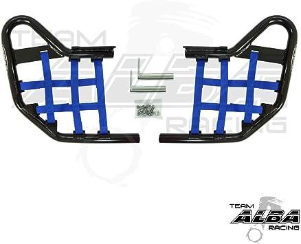 Tusk Nerf Bars YAMAHA YFZ 450 2004-2009 /& 2012-2013 Blue//Black Webbing