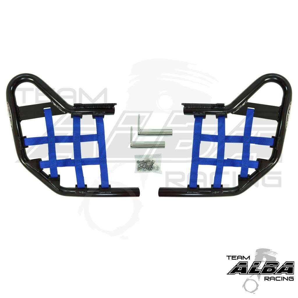 Yamaha YFZ 450 (2004-2009) (2012-2013) Standard Nerf Bars Black w/ Blue Net