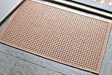 WaterHog Fashion Commercial-Grade Entrance Mat, Indoor/Outdoor Charcoal Floor Mat 3' Length x 2' Width, Medium Brown by M+A Matting