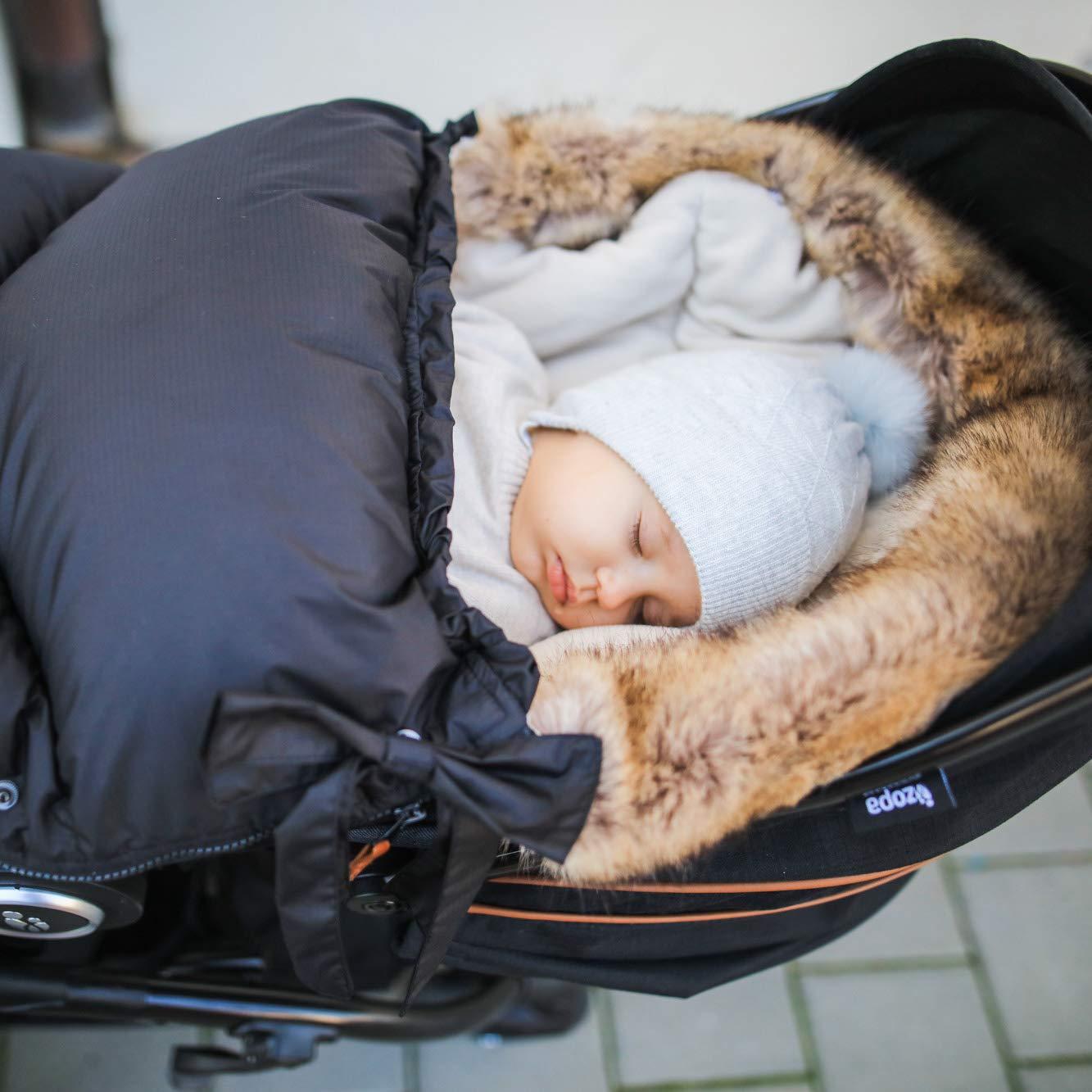 Night Black universell Fu/ßsack fussack f/ür Kinderwagen Buggy ZOPA Luxus Winter Fusak FLUFFY mit Fell