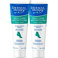 Dermal Therapy Heel Care Cream - Moisturizing Treatment that Repairs and Heals Dry, Rough, Cracked Heels and Feet (3 oz…