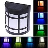 Rrimin New 7-Color Solar Garden Light Waterproof LED for Outdoor Fence Yard Lamp Best