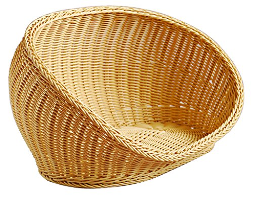OSPet Washable Wicker Pet Basket and Bed for Small Dogs and Cats,Summer Cool Dog Bed (Basket Dog Wicker)