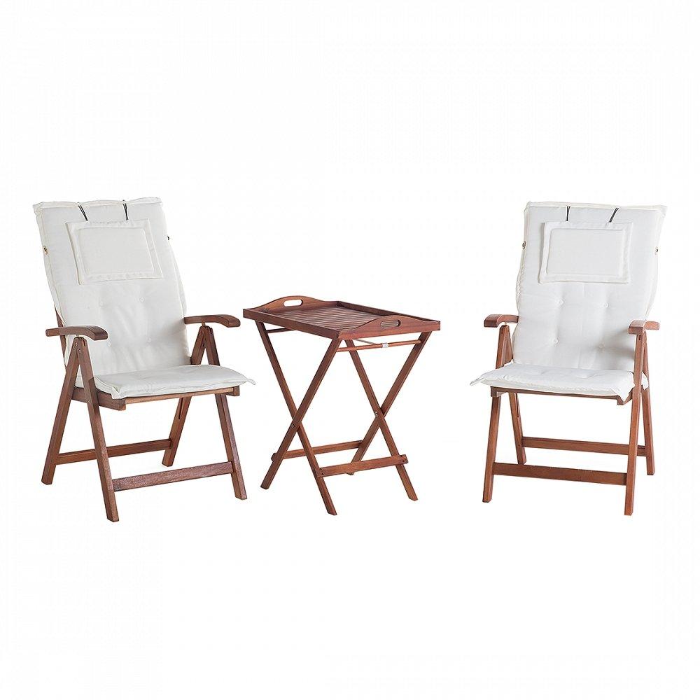 Gartenmöbel - Balkonmöbel - Holzmöbel - Tisch mit 2 Stühlen und 2 ...