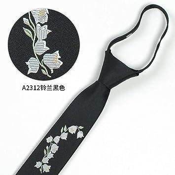 Corbatas para Hombre,Moda Flores Bordado Logotipo Lazy Zipper ...