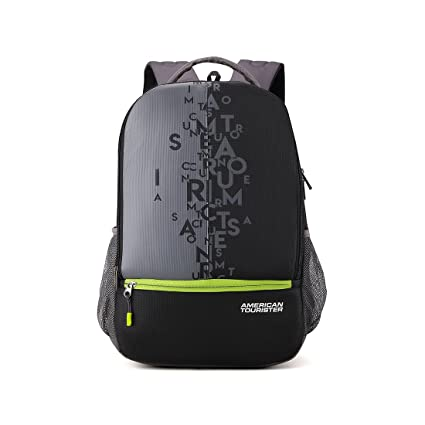 a2eb29e56 American Tourister 32 Ltrs Black Casual Backpack (AMT Fizz SCH Bag 02 -  Black)  Amazon.in  Bags