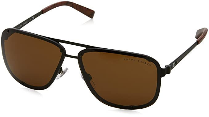 96e2c78f062d Ralph Lauren Men's 0RL7055 900573 64 Sunglasses, Olive Green  Matte/Olivegreen,