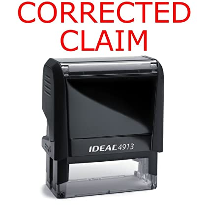 amazon com corrected claim rubber stamp for office use self inking