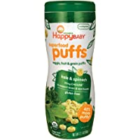 Happy Baby Organic Superpuff Kale and Spinach Puffs, 60g