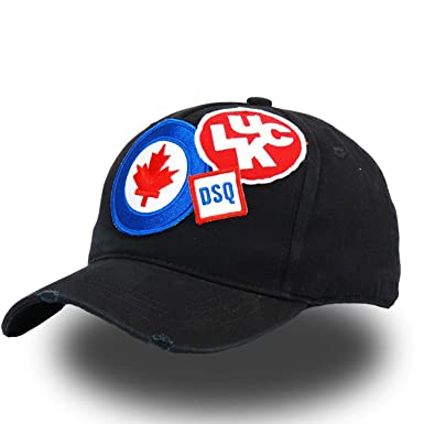 GordonKo Cotton Baseball Caps Snapback Cap Letter Patch Dsq Dad Hat for Men  Women Trucker Cap 9107b15aad3