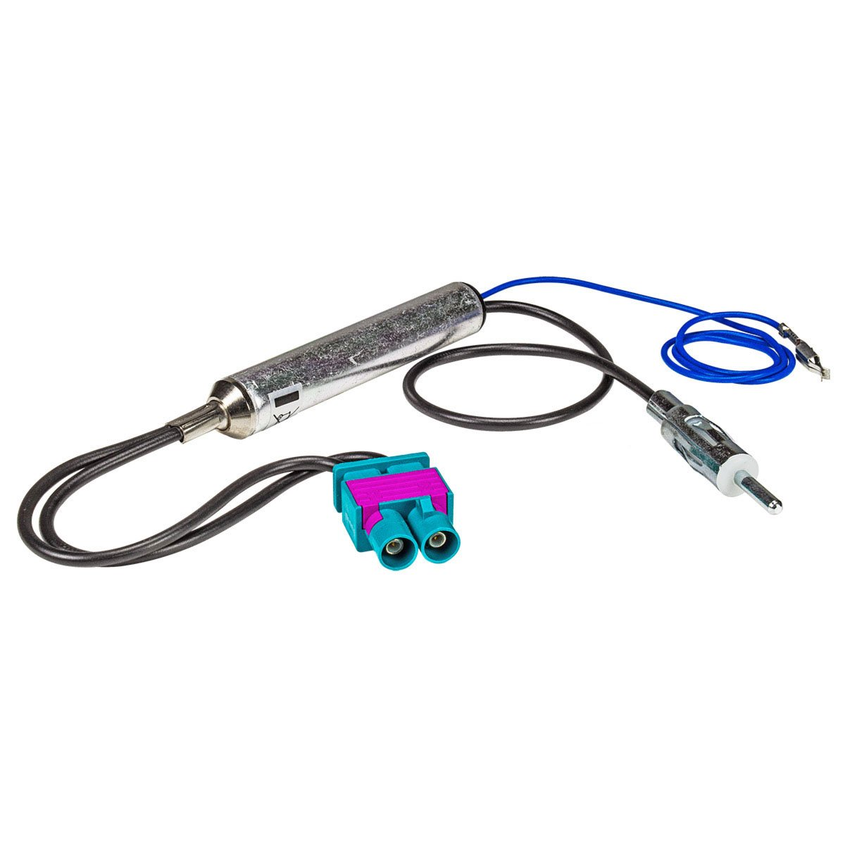 tomzz Audio 1503-007 Doppel Fakra Antennenadapter mit Phantomeinspeisung f/ür Audi Seat Skoda VW Citroen Peugeot Opel auf DIN