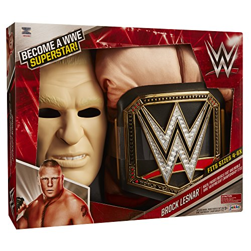 WWE Brock Lesnar Deluxe Muscle Suit with Championship Title Belt]()