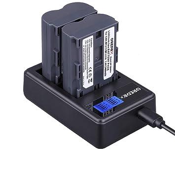 Grepro BP-511/BP-511A Camera Battery (2 Pack) and Dual USB LCD Charger Set for Canon EOS 50D 40D 30D 20Da 20D 10D 5D 300D Digital Rebel D30 D60 ...