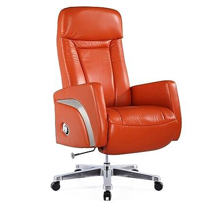 Fine Mod Imports FMI10290 ORANGE Mason Office Chair Recliner, Orange