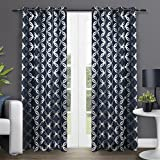 Exclusive Home Curtains Modo Grommet Top Window Curtain Panel Pair, Indigo, 54x84