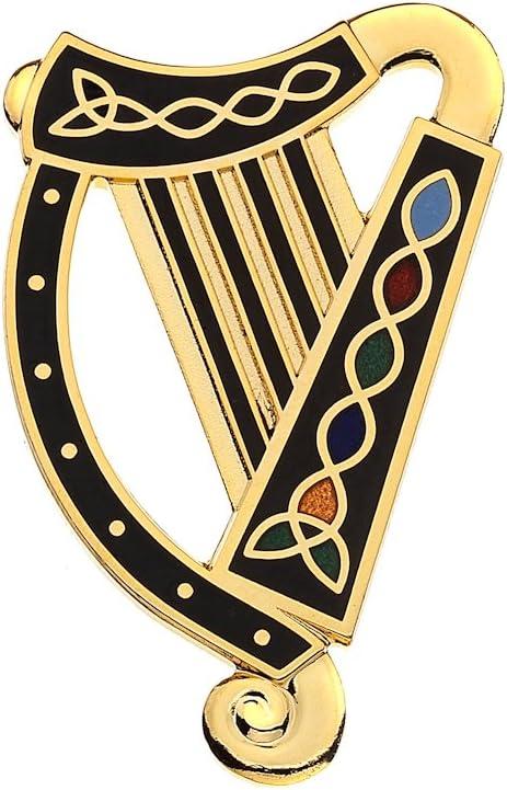 Sea Gems Celtic Lands Broche en /émail Motif n/œud celtique Harpe/ /Fine 7556 taille unique