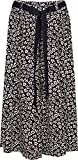 Kentex Online womens long maxi skirts in cool light weight viscose prints sizes 10 to 24 (20, black leopard)