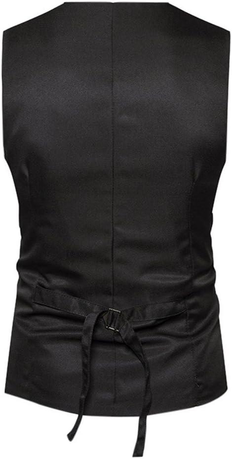 Leisure /Él/égant Homme Gilet Costume Veste Slim Fit sans Manches Business Mariage PowerFul-LOT Les Hommes Formel Tweed Check Double Breasted Gilet R/éTro Veste Slim Suit