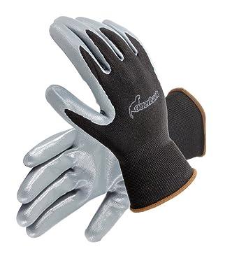 Galeton 12476-M 12476 Otterback XC 3//4 Nitrile Double Coated Pack of 12 Knit Nylon Gloves Blue//Black, Sandy Finish Medium