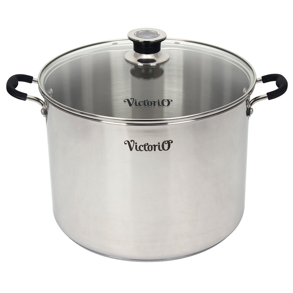 Stainless Steel Multi-Use Canner with Temperature Indicator by VICTORIO VKP1130