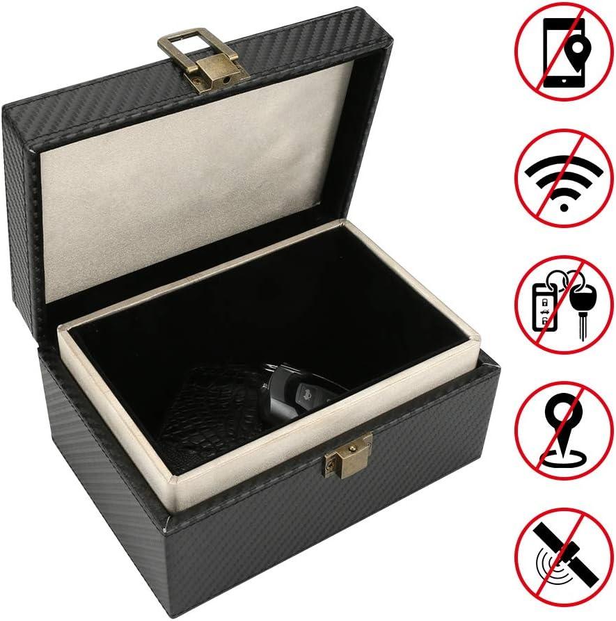 Caja de Bloqueo de señal Zwini para Llaves de Coche, Caja Faraday para teléfonos con Bloqueo RFID, Funda de Seguridad antirrobo para Coches sin Llave, Bolsa de Almacenamiento Grande: Amazon.es: Electrónica