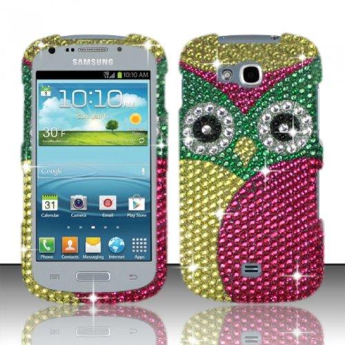 For Samsung Galaxy Axiom R830 (US Cellular) Full Diamond Cover - Owl FPD