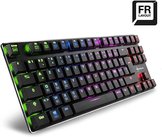 Sharkoon Purewriter Tkl Rgb Gaming Tastatur Schwarz Kailh Blue Fr Layout