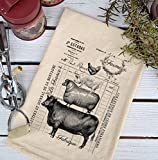 Farmhouse Natural Flour Sack French Farm Stack Country Kitchen Towel