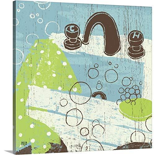 Bathroom Bubbles I Canvas Wall Art Print, 30 x30 x1.25