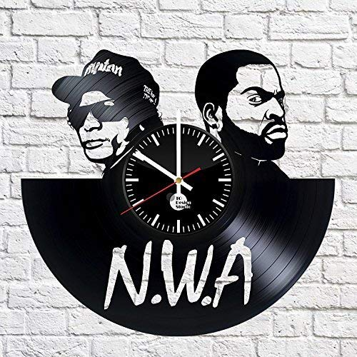 NWA Art Vinyl Wall Clock Gift Room Modern Home Record Vintage Decoration